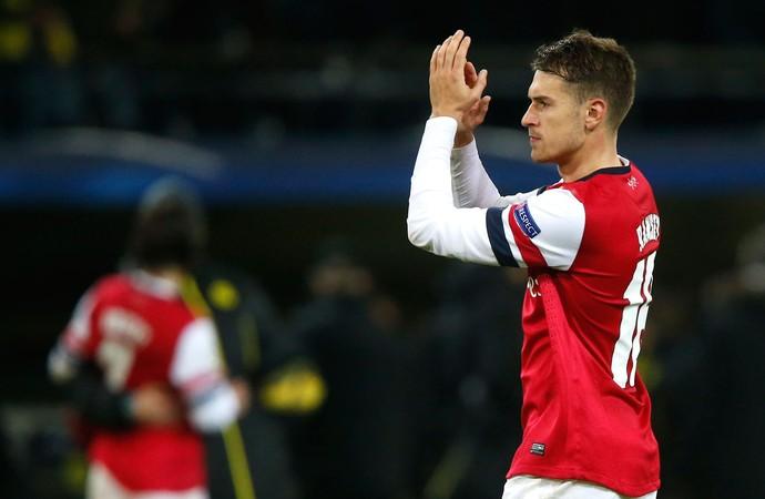 Arsenal Aaron Ramsey Liga dos Campeões (Foto: Reuters )
