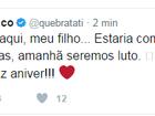 Tati Quebra Barraco faz post em homenagem ao filho que morreu