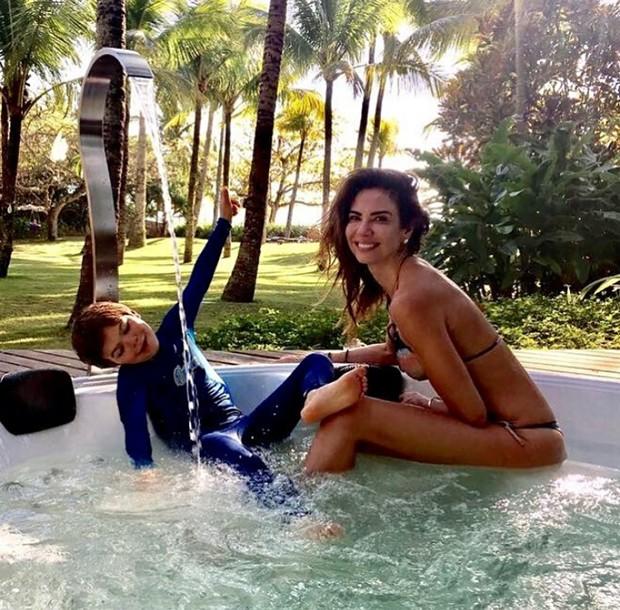 Luciana Gimenez e o filho caçula, Lorenzo (Foto: Reprodução/ Instagram)