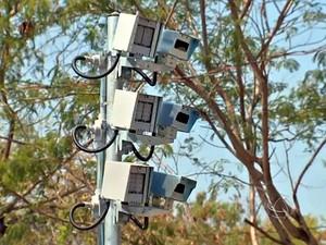 Radar eletrônico em Cuiabá (Foto: Reprodução/TVCA)