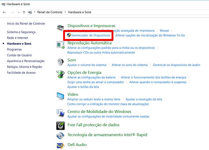 Em seguida, entre no Gerenciador de Dispositivos do Windows 10 (Foto: Reprodução/Filipe Garrett)