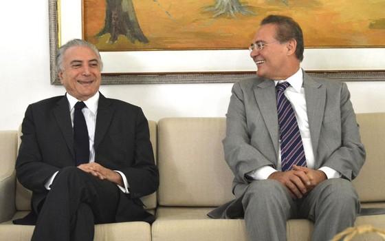 Michel Temer e Renan Calheiros em abril do ano passado (Foto: Antonio Cruz/Agência Brasil)