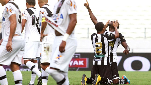 Comemoração do Ceara contra o Vasco (Foto: Reprodução / Site Oficial do Ceara)