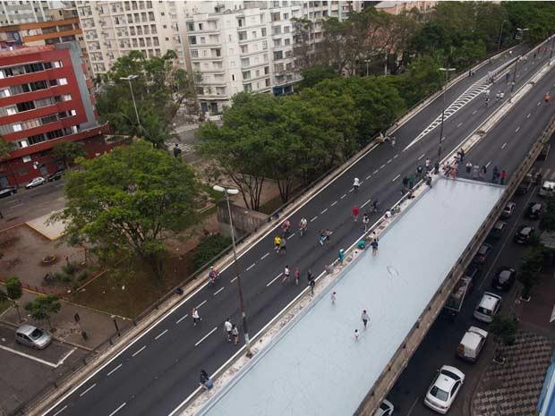 Estrutura foi montada nas imediações da Praça Marechal Deodoro, na região de Santa Cecília (Foto: Victor Moriyama/G1)