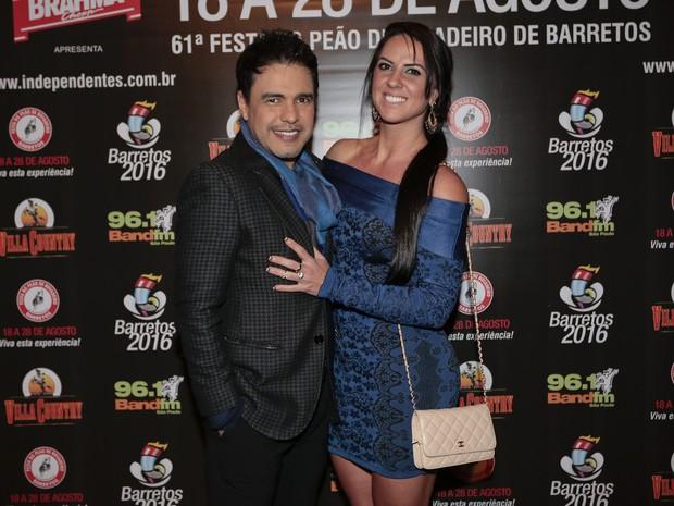 Zezé Di Camargo e Graciele Lacerda em show em São Paulo (Foto: Rafael Cusato/ Brazil News)