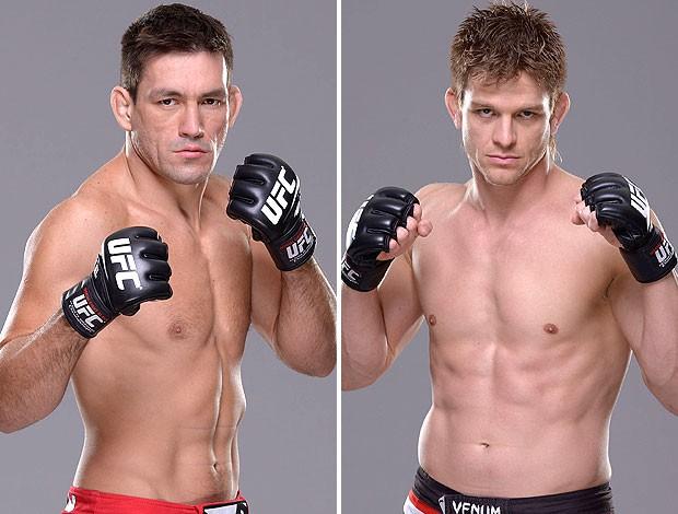 Montagem UFC - Demian Maia e Mike Pyle (Foto: Editoria de arte)