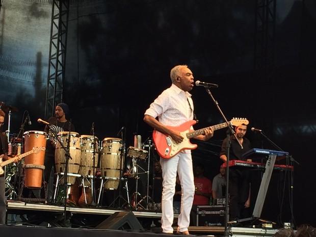 Gilberto Gil canta em show que comemora aniversário de São Paulo (Foto: Vivian Reis/G1)