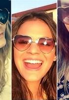 Bruna Marquezine e mais famosas usam óculos em forma de coração