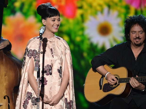 Katy Perry em evento em homenagem aos Beatles em Los Angeles, nos Estados Unidos (Foto:  Kevin Winter/ Getty Images/ AFP )