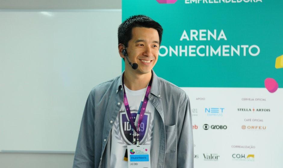 Liao Yu Chieh, fundador da Idea9, no Festival de Cultura Empreendedora (Foto: Rafael Jota)