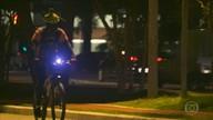 Como o passeio de bicicleta pode ser mais seguro durante à noite
