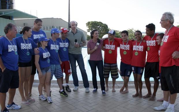 Super Ídolos no Esporte Espetacular (Foto: Rafael Sorín / TV Globo)