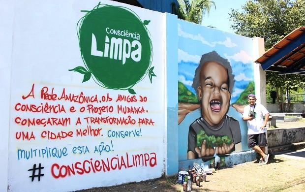 Denis Soares deixou sua marca durante o 'Consciência Limpa' (Foto: Katiúscia Monteiro/ Rede Amazônica)