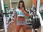 Gracyanne Barbosa faz último treino antes de desfilar no carnaval