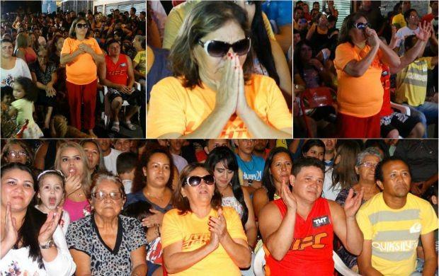Emessão toma conta de  , mãe de Dileno Lopes (Foto: Onofre Martins/Rede Amazônica)