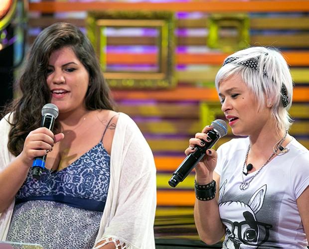 Outro momento da dupla ensaiando  (Foto: Isabella Pinheiro/Gshow)