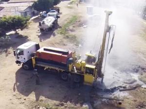 Do início de 2015 até meados de 2016, governo do RN já perfurou 715 poços no interior do estado (Foto: Semarh/Divulgação)