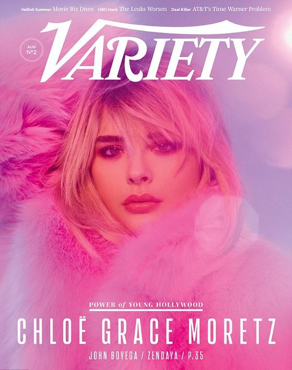 Chloe Moretz na capa da Variety (Foto: Divulgação)