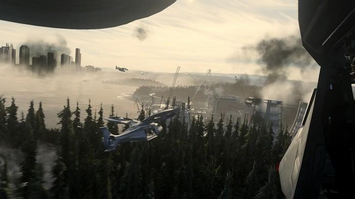 A campanha de Advanced Warfare é curta, mas intensa (Foto: Reprodução/Victor Teixeira)