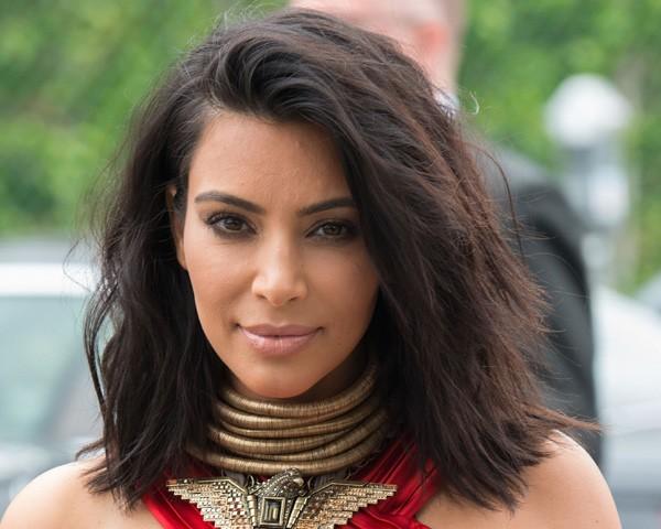 Kim Kardashian também já usou o long bob (Foto: Getty Images)