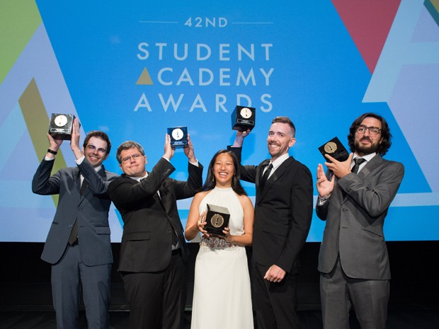 Daniel Drummond (primeiro à esq.) e Alexandre Peralta (segundo) venceram Oscar Estudantil (Foto: Divulgação/Academy of Motion Picture Arts and Sciences)