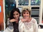 Ana Maria Braga e Anitta fazem pose de 'poderosas'