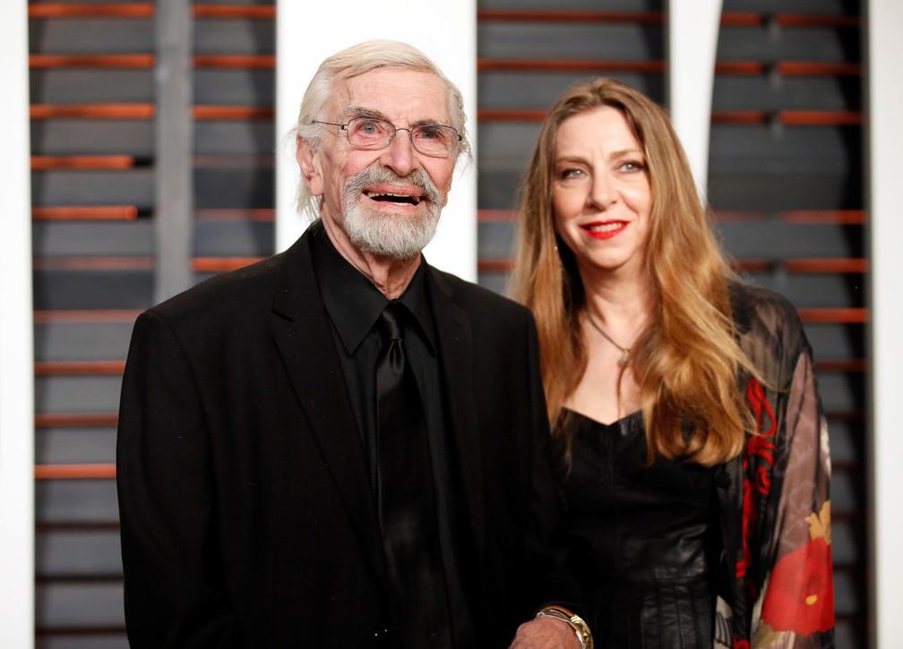 O ator Martin Landau e sua filha Susan Landau Finch, em foto de 2015 (Foto: REUTERS/Danny Moloshok/File Photo)