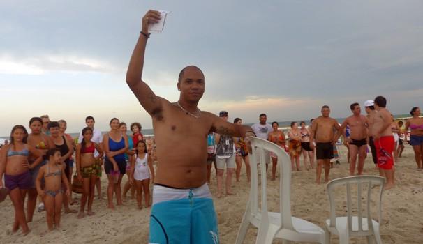 Juan Paulo foi o primeiro vencedor da brincadeira (Foto: Divulgação/ RPC)