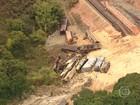Trem descarrila em Sabará e interdita ferrovia entre Minas Gerais e Vitória
