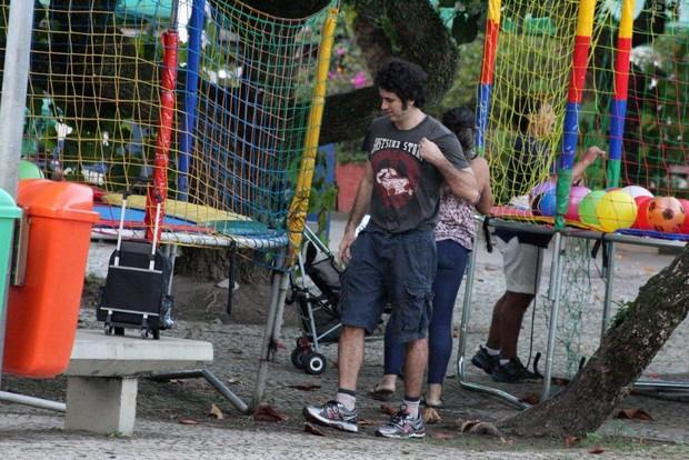 Eriberto Leão e o filho (Foto: JC Pereira/ Ag. News)