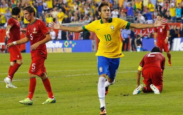 Neymar gol Brasil x Portugal (Foto: Reuters)