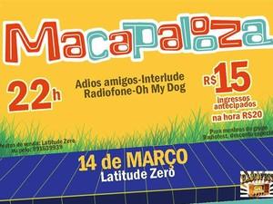 Macapalooza vai acontecer no dia 14 de março (Foto: Divulgação)