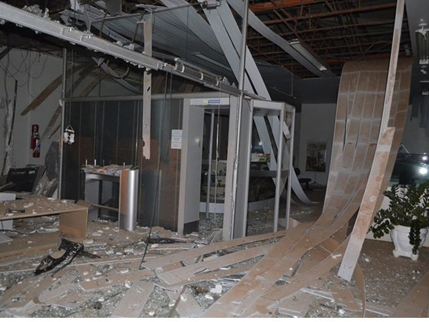 Quatro terminais explodiram e o quinto a banana de dinamite falhou, diz PM (Foto: Michel Ferreira/siteUbiratã24horas)