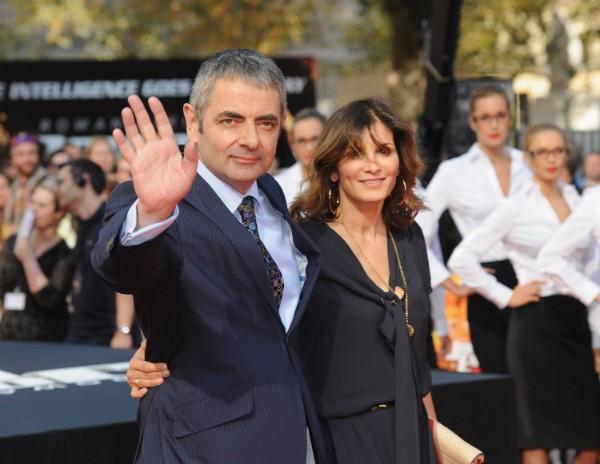 Rowan Atkinson e sua ex, a maquiadora Sunetra Arkinson, em foto de 2011 (Foto: Getty Images)