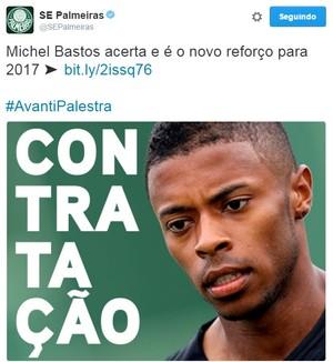 Michel Bastos Palmeiras (Foto: Reprodução / Twitter)