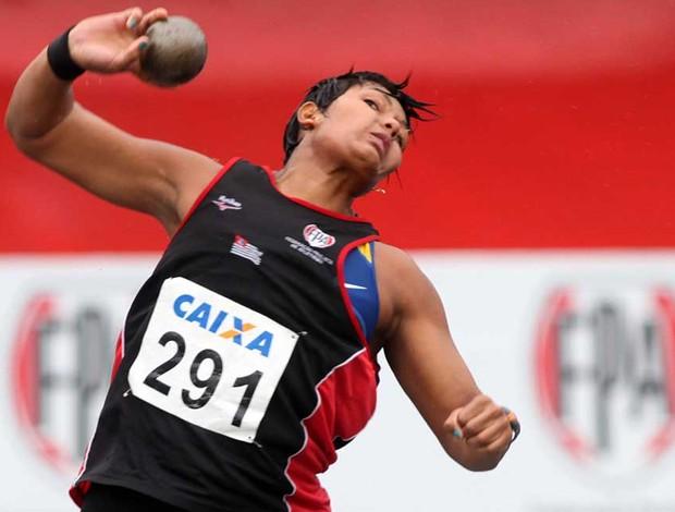 Geisa Arcanjo atletismo arremesso de peso (Foto: MarceloFerrelli / CBAt)