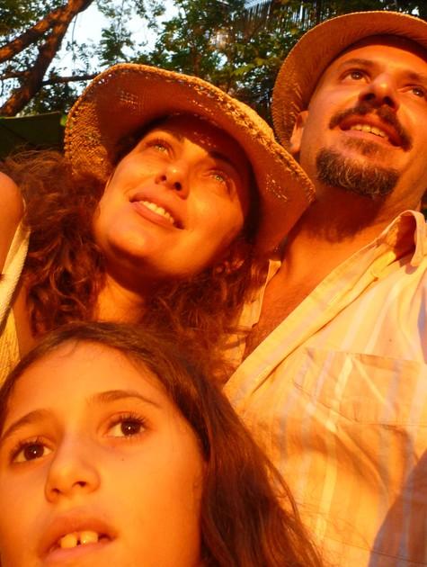 Giselle Tigre e a família (Foto: Arquivo pessoal)
