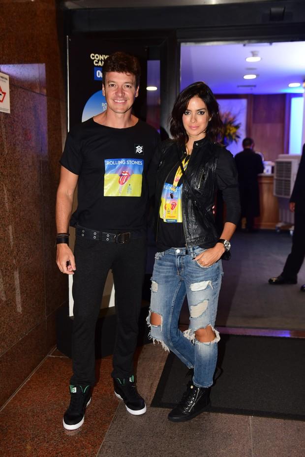Rodrigo Faro e Vera Viel vão ao show dos Rolling Stones (Foto: AgNews)