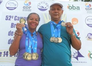 Nadadores do AP conquistam 16 medalhas em brasileiro master, no DF  (Foto: Nadilson Costa/Arquivo Pessoal)
