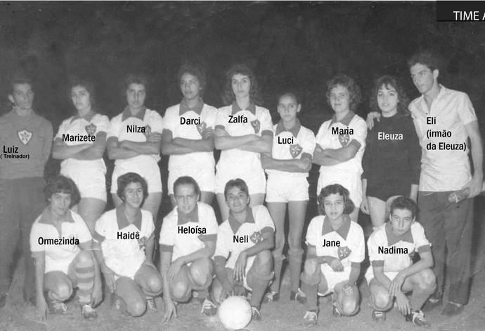 Pioneiras do futebol feminino de Araguari-MG, Araguari Atlético Clube (Foto: Arquivo Família Montes)