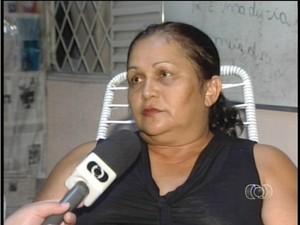 Dona Francisca precisou de uma ambulancia e nao foi atendida (Foto: Reprodução/TV Anhanguera TO)