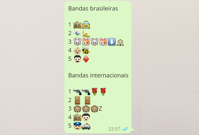 Emojis Bandas (Foto: Reprodução/Isabela Giantomaso)