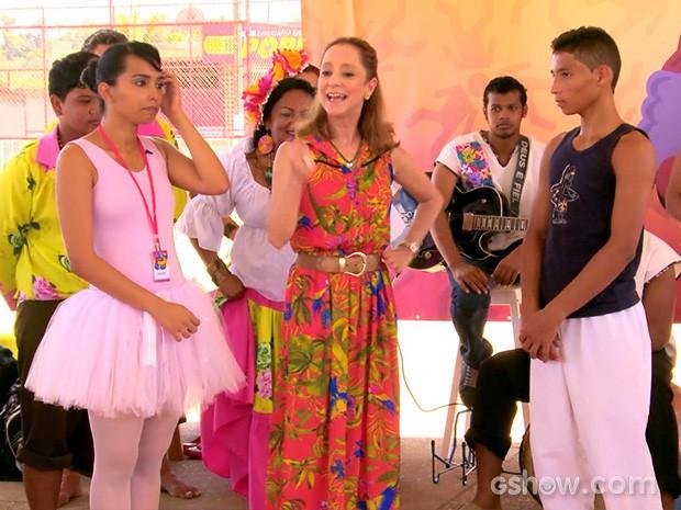Adaías e Edvane ganharam a companhia especial de Ana Botafogo (Foto: Caldeirão do Huck/TV Globo)