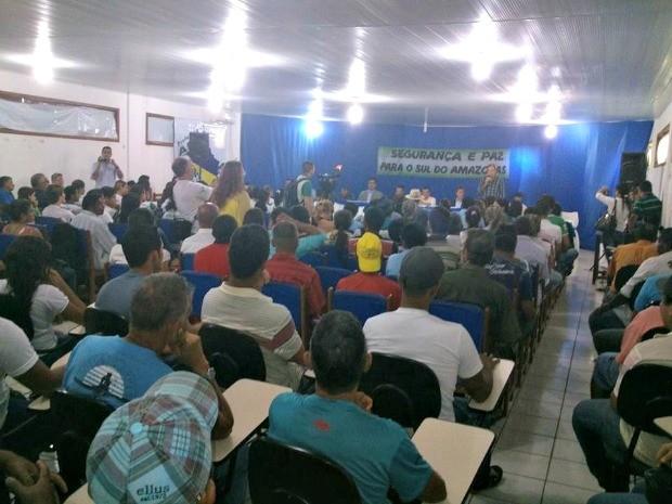 Sociedade civil cobrou ações de segurança para Sul do estado (Foto: Divulgação/Grupo Segurança e Paz para o Sul do Amazonas)