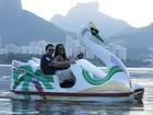 Rainha de bateria da Mocidade mostra Rio para noivo suíço