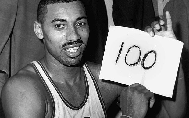 Wilt Chamberlain 100 pontos (Foto: AP)