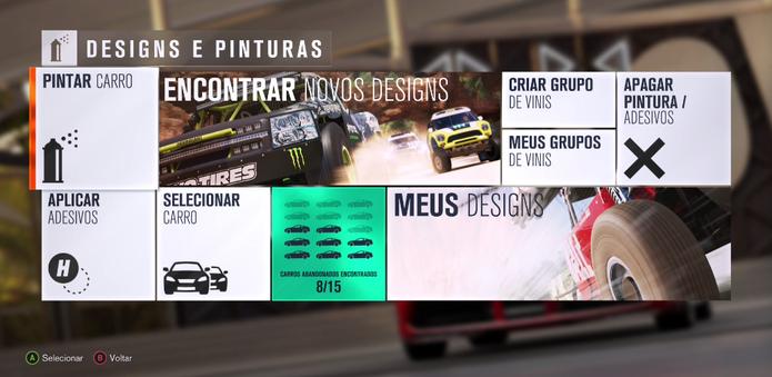 Como comprar novos designs para seu carro em Forza Horizon 3 (Foto: Reprodução/Felipe Vinha)