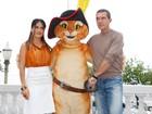 Antonio Banderas e Salma Hayek apresentam filme à imprensa no Rio