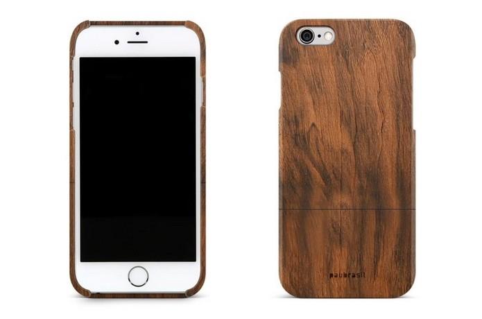 Capa de madeira Imbuia para iPhones 7 e 7 Plus (Foto: Divulgação/Grife PauBrasil)