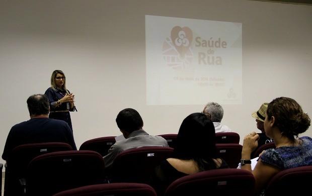 Gerente de marketing da Rede Amazônica, Tina Serafim, fala sobre detalhes do evento (Foto: Katiúscia Monteiro/ Rede Amazônica)